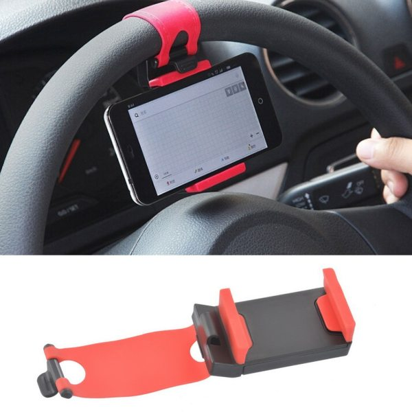 Universal Car Bracket Car Phone Holder Car Steering Wheel Clip Mount Holder Stand GPS Accessories for