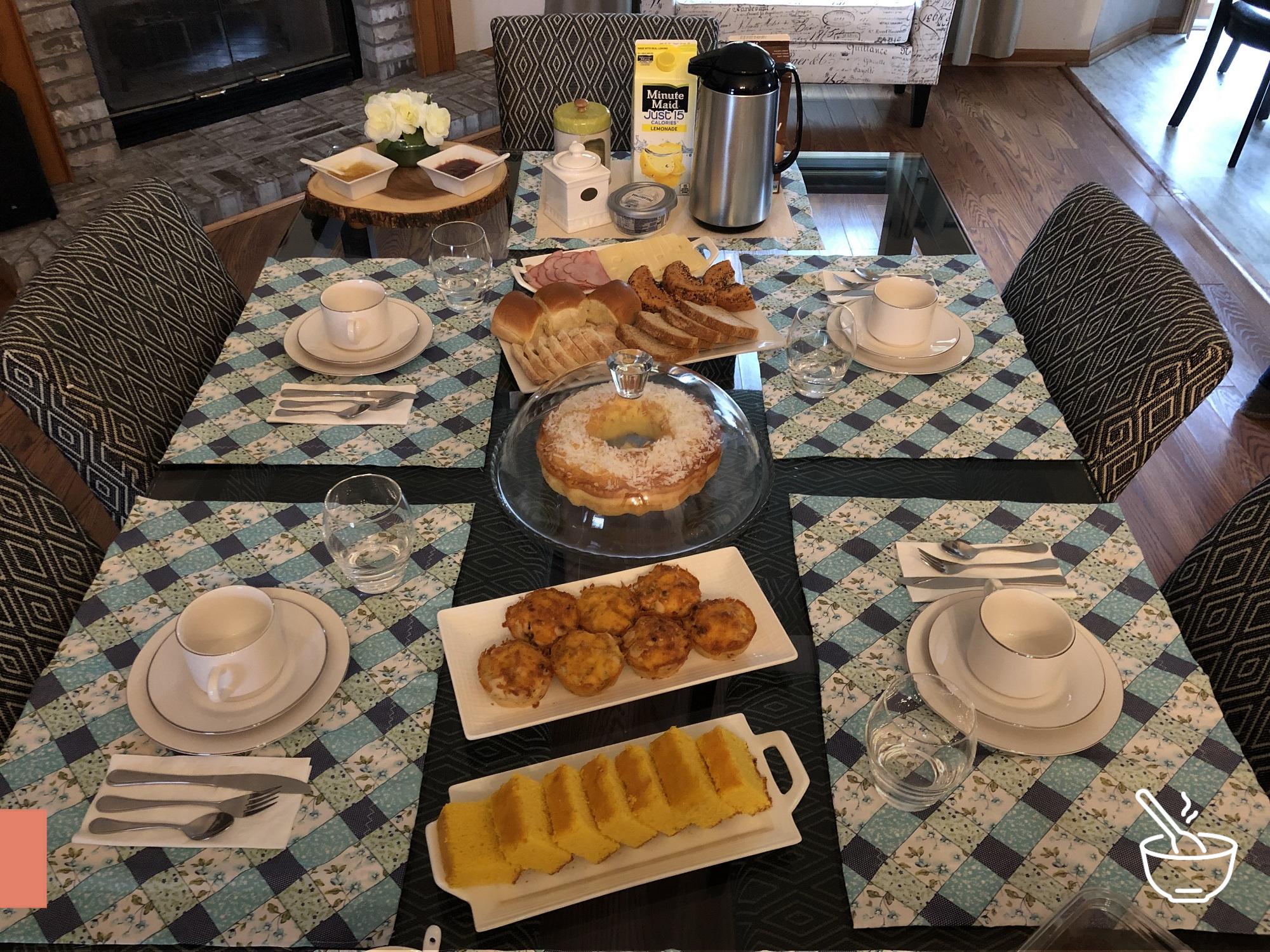 Mesa café da manhã completa