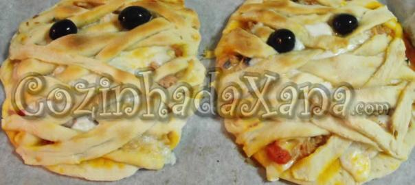 Múmias (mini pizzas de atum)