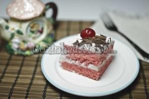 Bolo cor-de-rosa