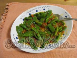 Feijão-verde guisado com tomate