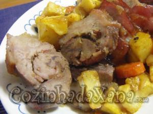 Lombinho de porco recheado com ervas de Provençe