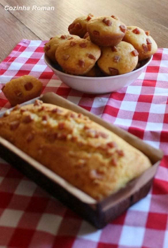 broinhas de fubá com queijo e bacon