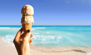 Cozumel My Cozumel beach and ice cream