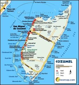 Cozumel My Cozumel Map of Cozumel island