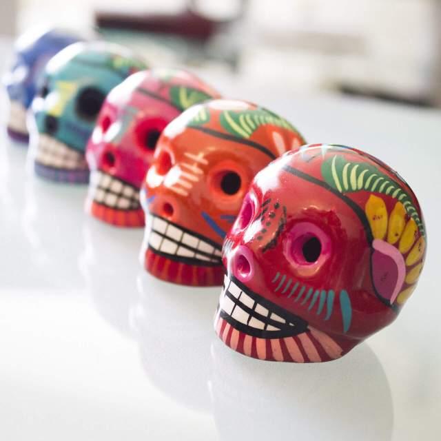 Cozumel My Cozumel day of the dead skulls