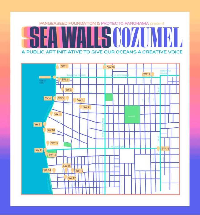 Cozumel My Cozumel 2019 Sea Wall map
