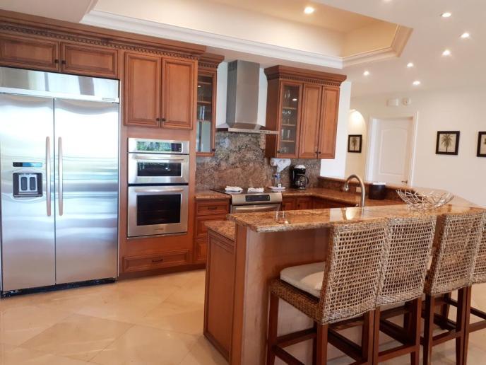 Large full kitchens.