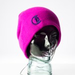 CozyB - Classic Pink Beanie Headphone Front View