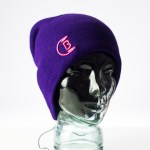 CozyB - Classic Purple Beanie Headphone Front View