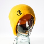 CozyB - Classic Yellow Beanie Headphone Front View