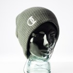 CozyB - Super Soft Grey Beanie Headphone Front View