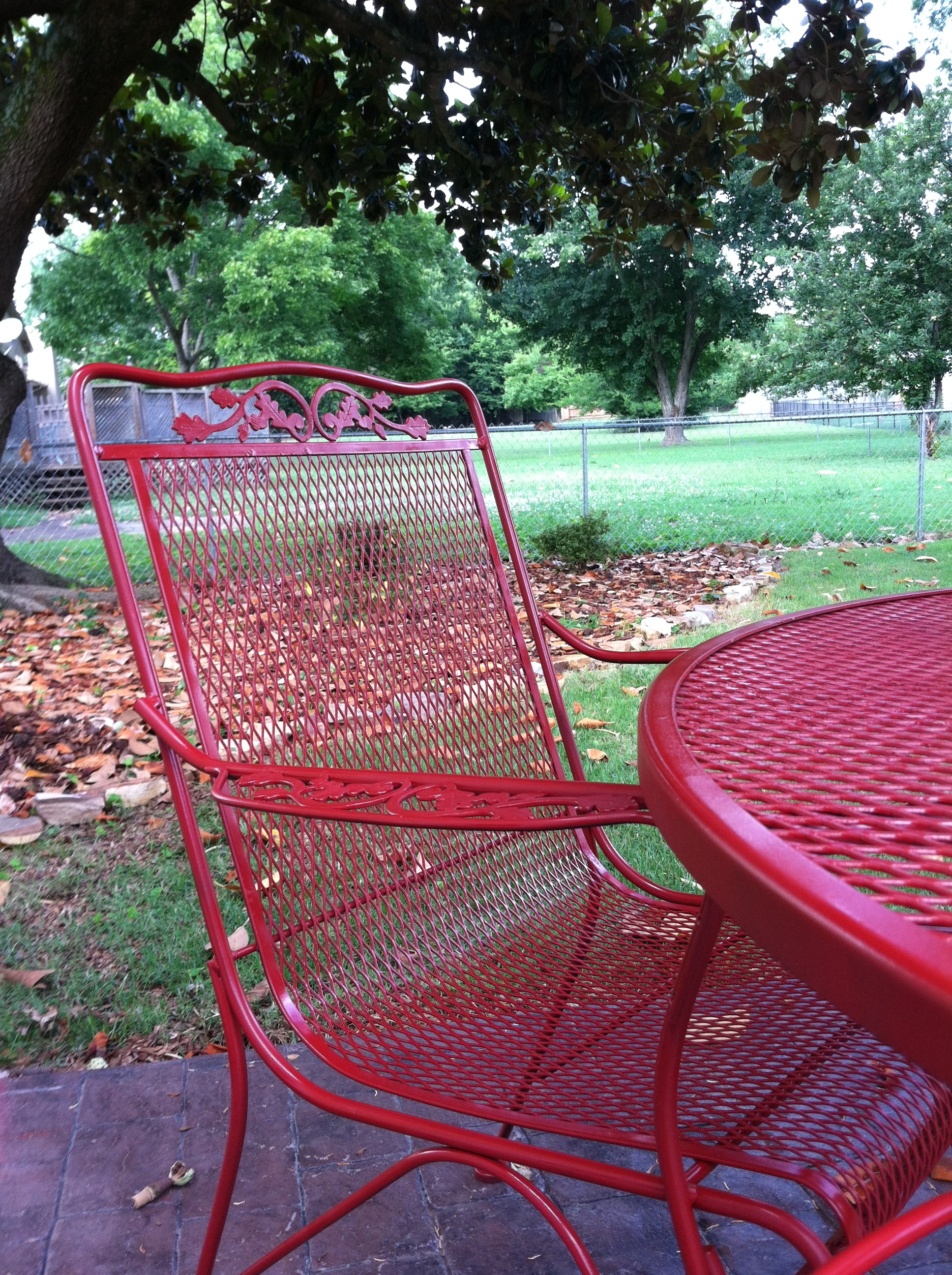 red wrought iron patio furniture cozy