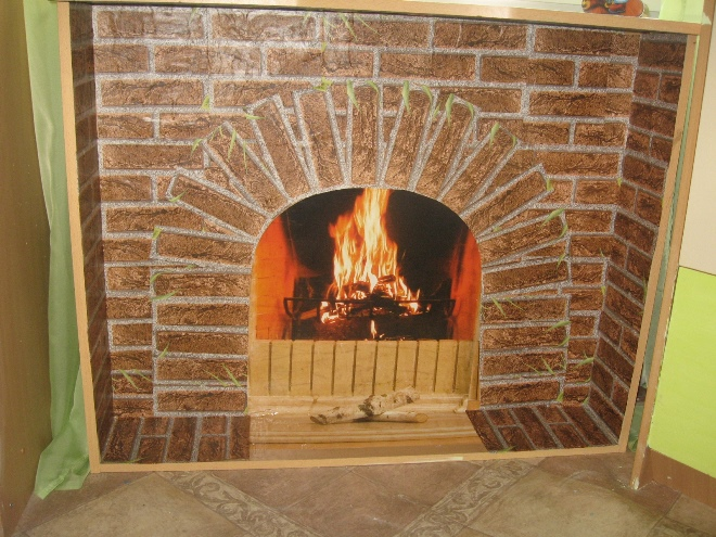 Fireplace with neckline in the form of arches