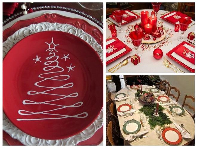 Decorați masa de Anul Nou cu șervețele