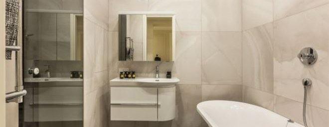 дизайн маленькой ванной комнаты без туалета 2