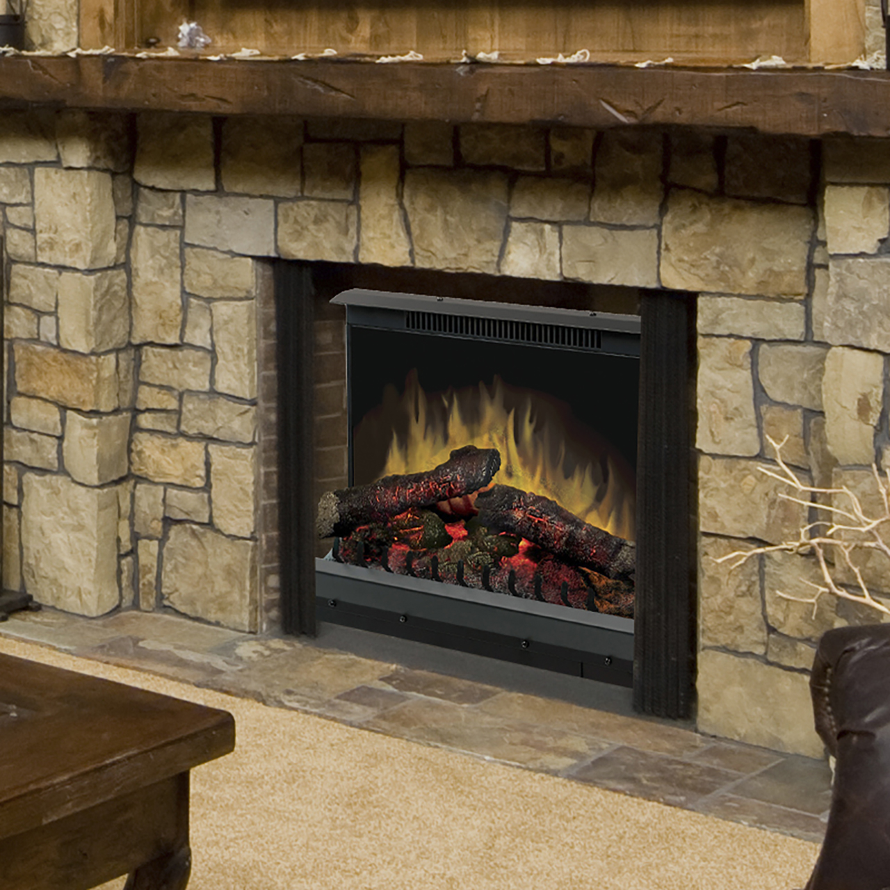 Dimplex Deluxe 23 Log Set Electric Fireplace Insert Dfi