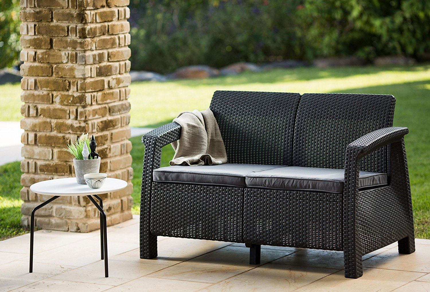Review Keter Corfu Outdoor Patio Loveseat Cozy Home 101