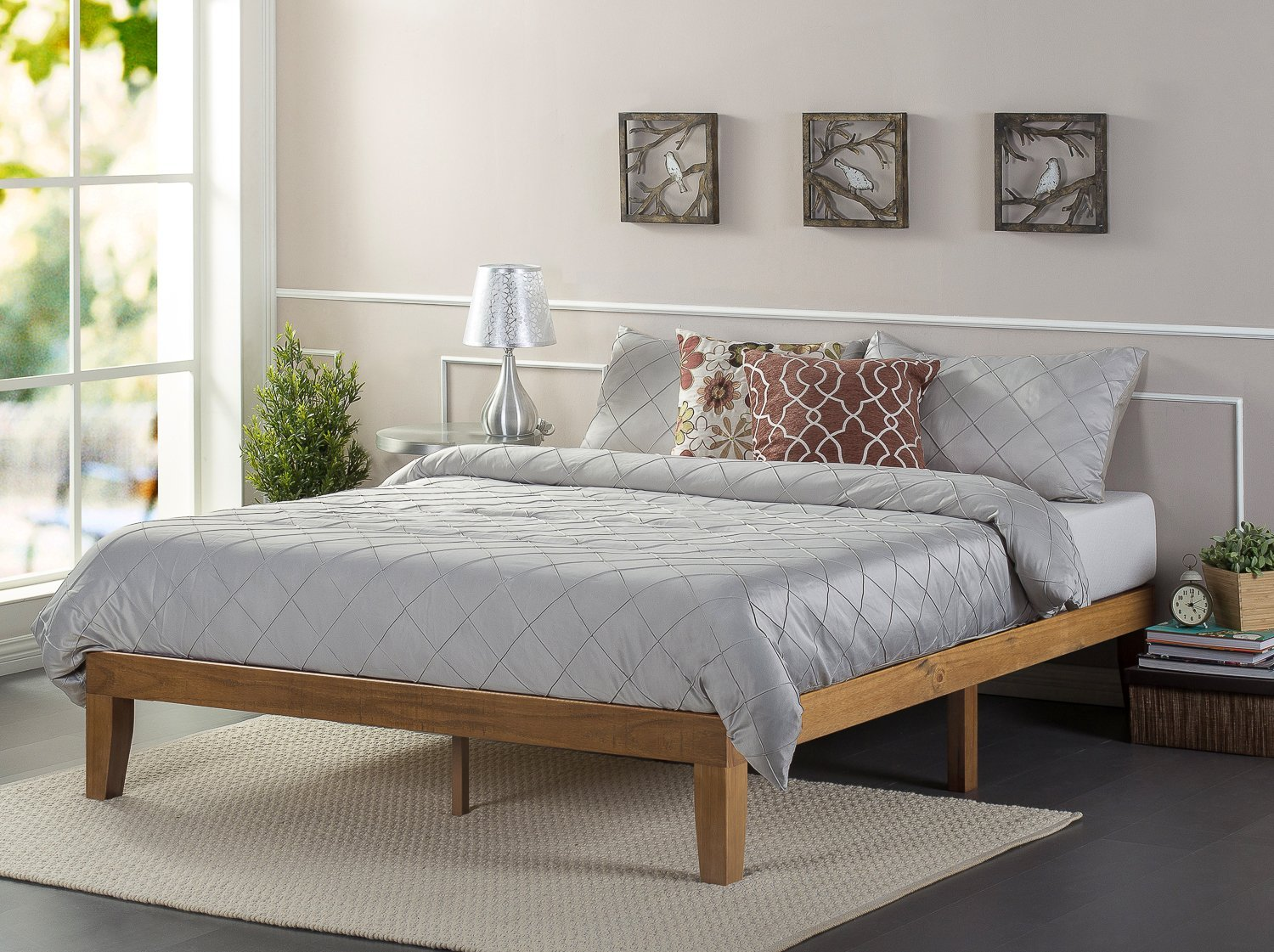 Review Zinus 12 Inch Wood Platform Bed Cozy Home 101
