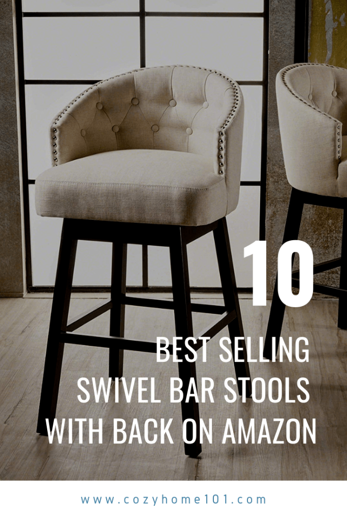 10 Best Selling Swivel Bar Stools With Back On Amazon In 2020 Cozyhome 101