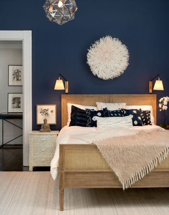 50 Relaxing Bedroom Paint Colour Ideas With Dark Furnitures