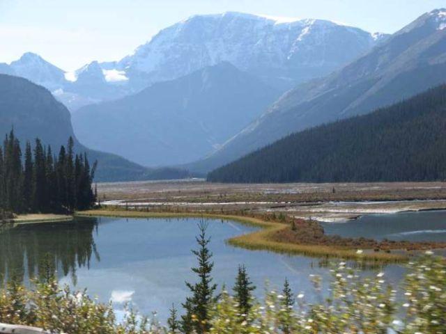 Alpine resort cabin scenery