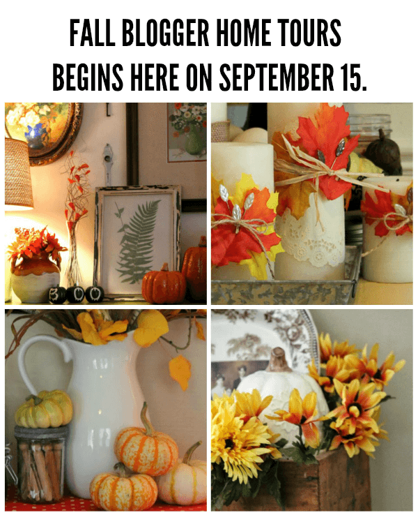 Fall Bloggers Home Tour One Week From Today 183 Cozy Little