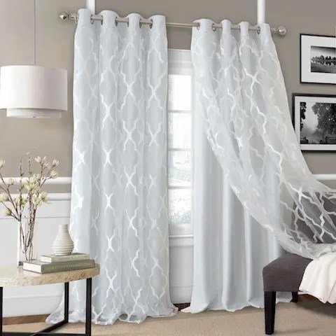 White Blackout Curtains For Your Living Room