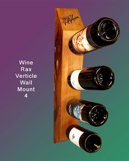 rax vertical wall mount wine racks