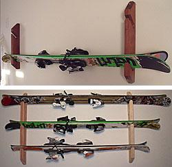 wall mounted ski racks