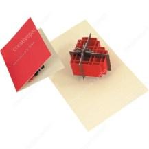 Papercraft imprimible y recortable de una Tarjeta pop-up de un corazón. Manualidades a Raudales.