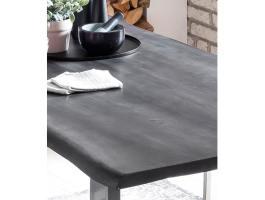 Esstisch Baumkante 180 x 90 cm Massiv Akazie Grau EVA