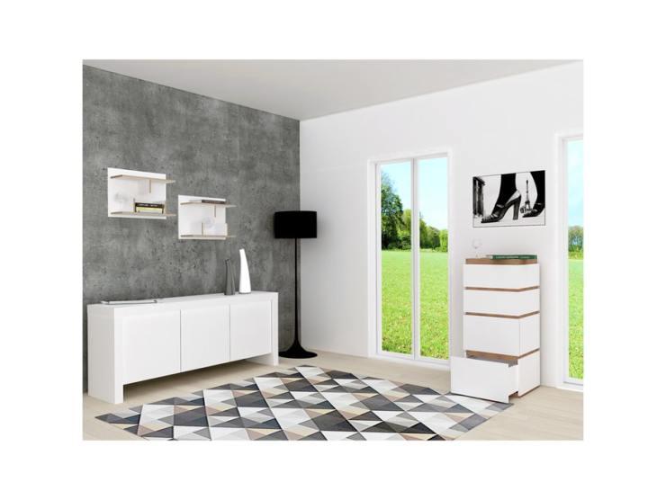Kommode Weiß Nussbaum 2021