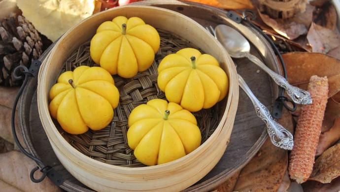 南瓜造型饅頭怎么做_南瓜造型饅頭的做法_桔子美食記_豆果美食
