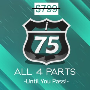 Full 4 Part i-75 CPA Review Course, until you pass
