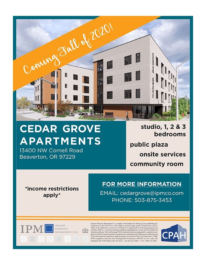 Cedar Grove Now Leasing