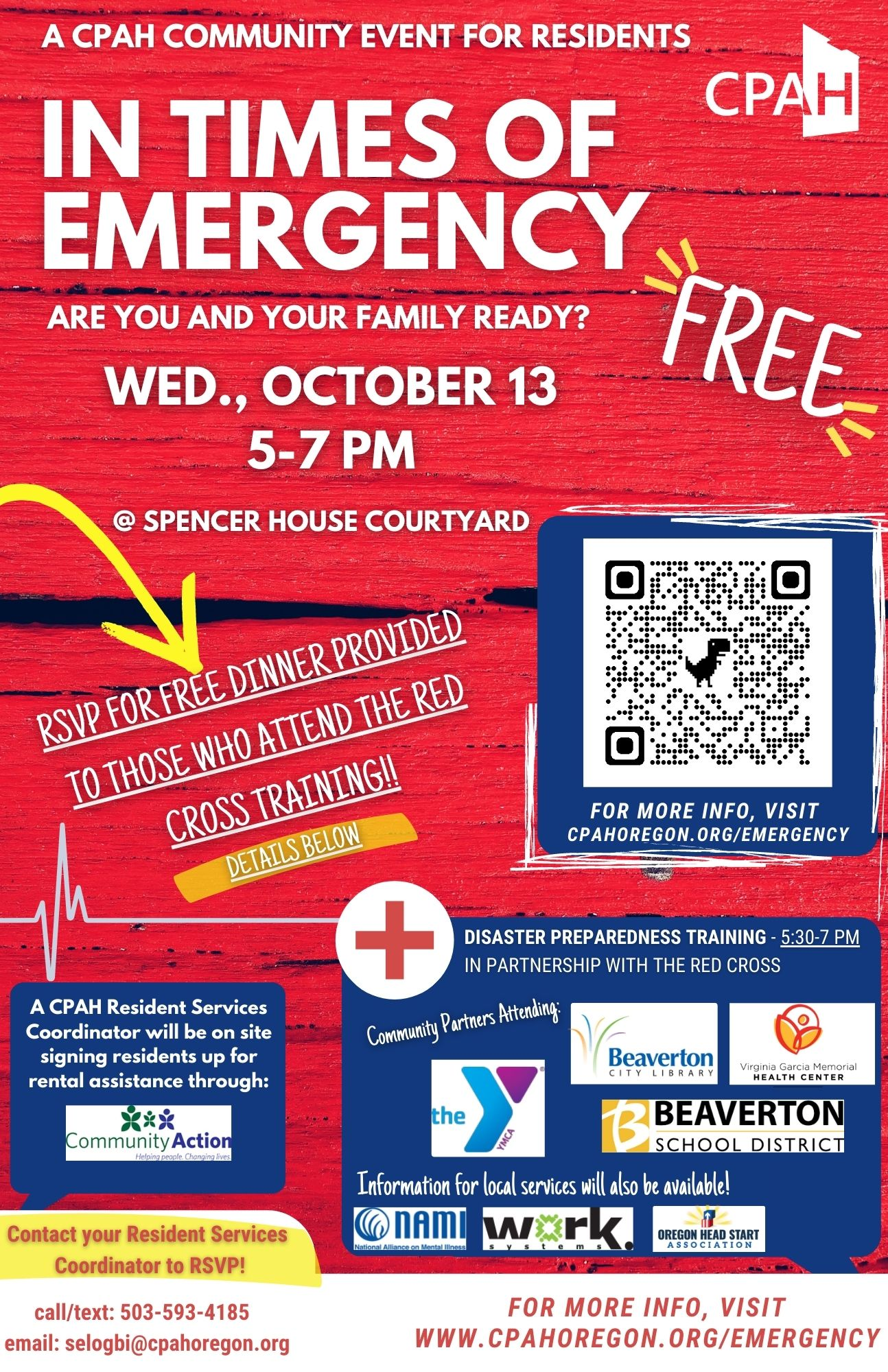 In Times of Emergency Flyer for Spencer House