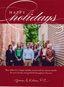 Happy Holidays from Geenen & Kolean