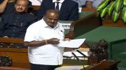 HD Kumaraswamy in Assembly