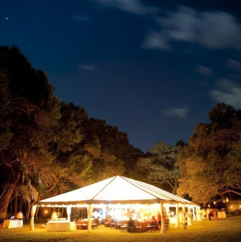 Party Tent at night