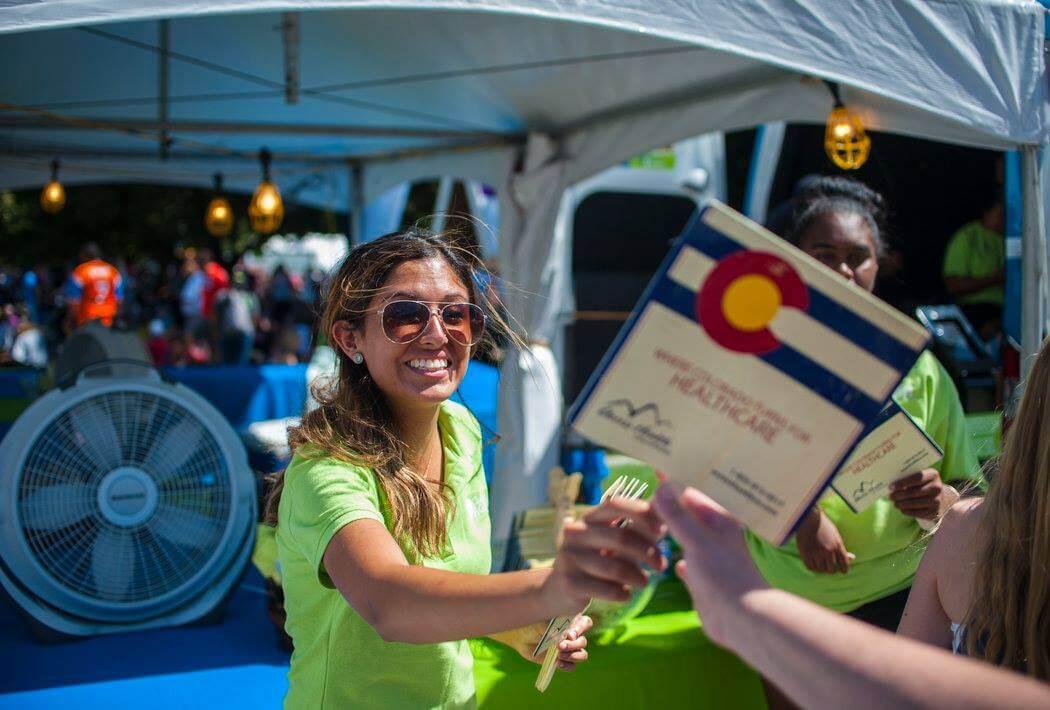 Taste Of Colorado Event Tents Provided by Colorado Party Rentals