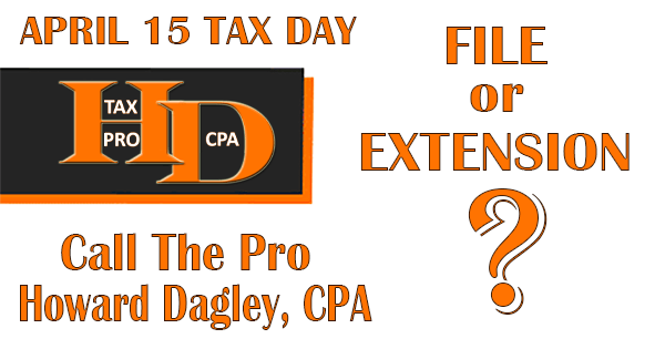File or File an Extension | Howard Dose It All