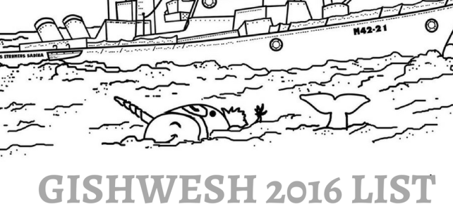 Gishwhes Opening Day List 2016