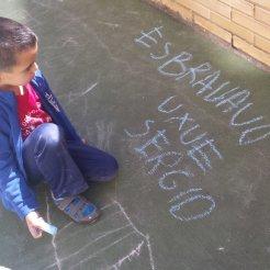 escritura espontanea en patio