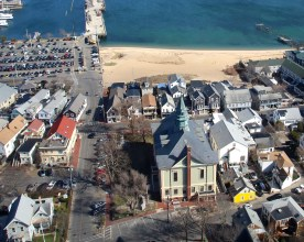 Provincetown, Cape Cod, MA, from top of Pilgrim Monument..