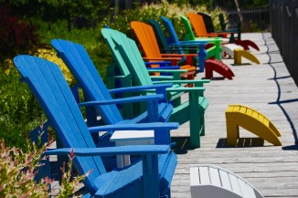 Adirondack chairs, St. Andrew, NB