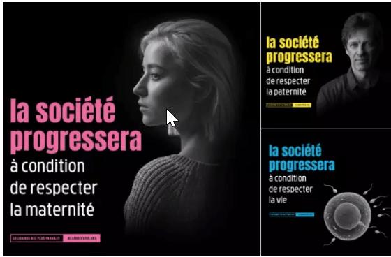 La campagne de l'association anti-avortement Alliance Vita est au cœur d'une bataille judiciaire avec la Ville de Paris et la régie Mediatransports. CAPTURE D'ECRAN