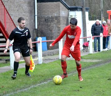 Leon Jacka was skilful throughout this encounter against Afan Lido and bagged the Bulldogs third goal.