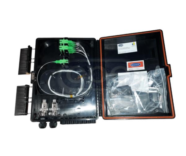 Caixa de terminação óptica CTO 1X18 SC-APC