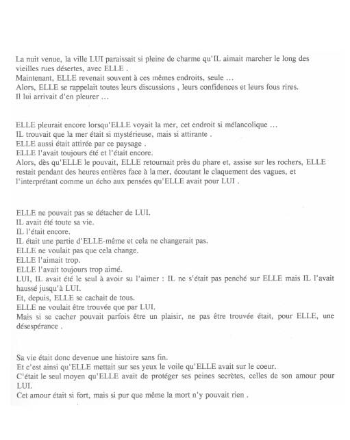 Etude argentique, 1993, projet scolaire, Récuurence #17